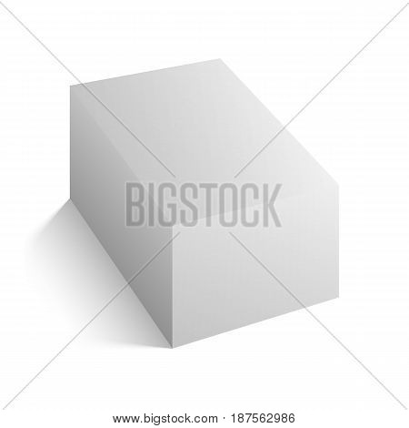 Realistic white vector Block Mockup with soft Shadows