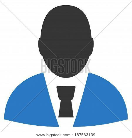 Office Clerk flat vector icon. An isolated illustration on a white background.