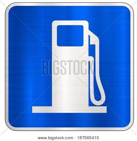 gas station road sign  fuel  illustration blue