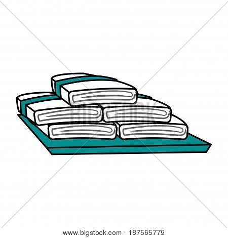 color graphic set of folded towels vector illustration