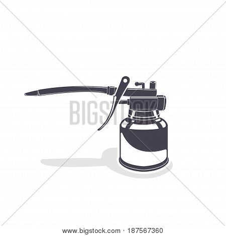 Oiler, monochrome style, Oiler on the white background, vector