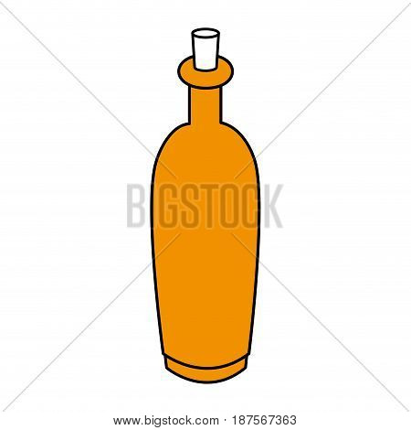 color silhouette with spa bottle with cork vector illustration