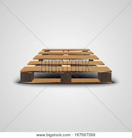 Wood Pallet Isolated On White Background, vector