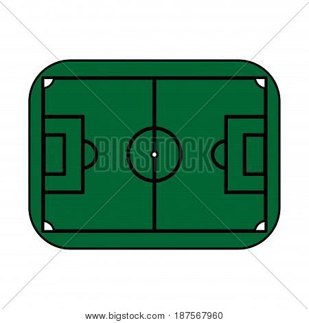 color silhouette with soccer field vector illustration