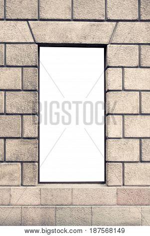 Mock up of store blank street showcase window