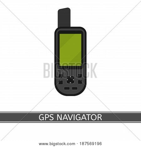 GPS navigator vector icon flat style isolated on white background.
