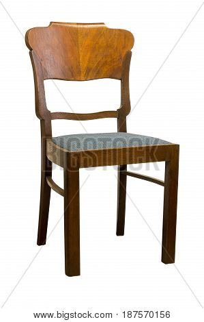 Vintage Art deco antique Chair isolated on white background