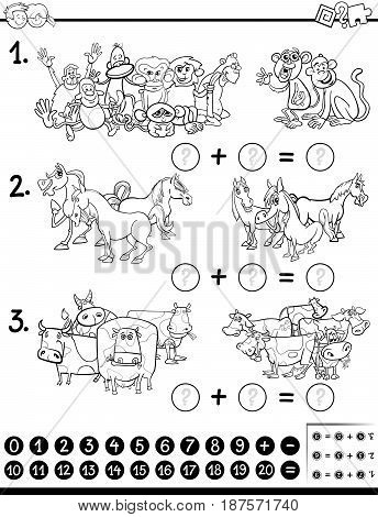 Maths Game Coloring Page