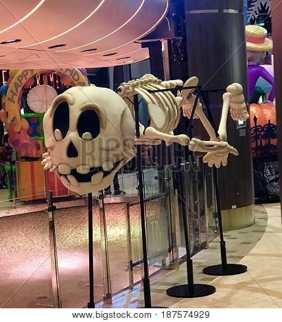 Skeleton used for parade on cruise ship