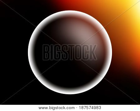 Glowing planet sphere with light leak illustration background hd