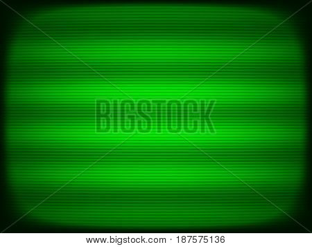 Horizontal green tv scanlines illustration background hd
