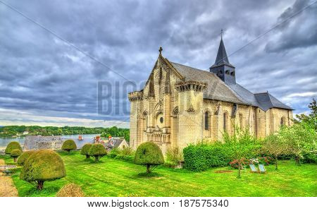 Collegiale Saint-Martin de Candes, a church on the bank of the Vienne - France, Indre-et-Loire