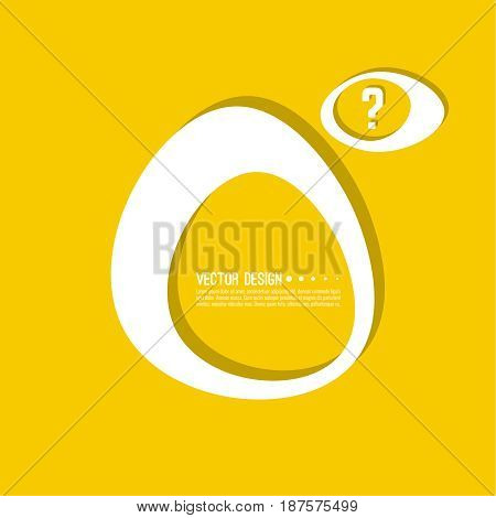Question mark icon. Help symbol. FAQ sign on background. vector. Modern popular banner in the trend. Yellow color.