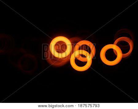 Horizontal orange bokeh circles illustration background hd