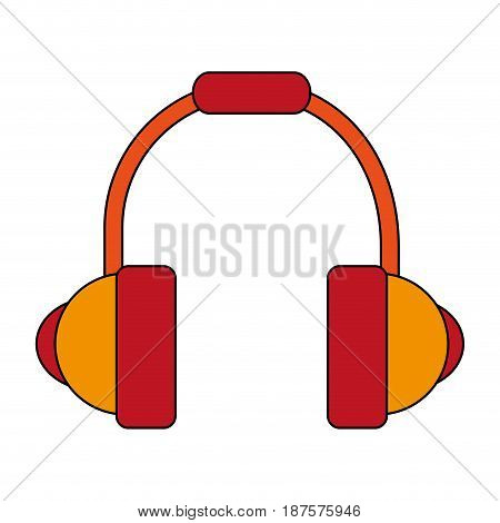 white background with headset stereo sound vector illustration