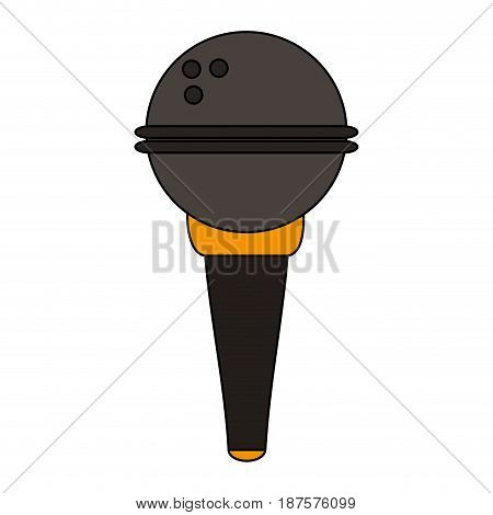 white background with wireless hand microphone vector illustration