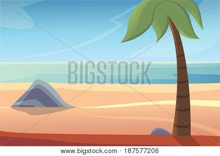 beautiful beach lanscape vector illustration epas 10
