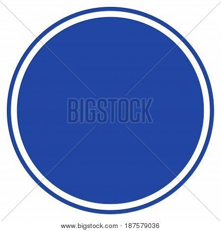 Round Seal Template flat vector pictograph. An isolated illustration on a white background.