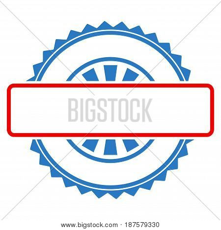 Seal Stamp Template flat vector illustration. An isolated illustration on a white background.