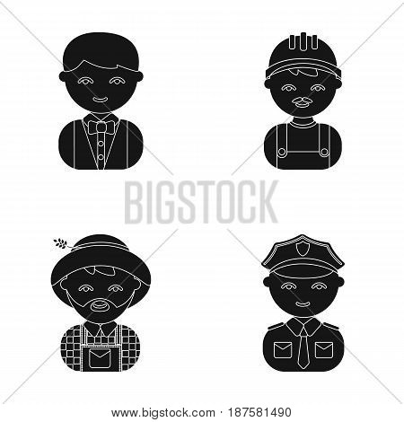 Cook, operator, fireman, artist.Profession set collection icons in cartoon style vector symbol stock illustration .