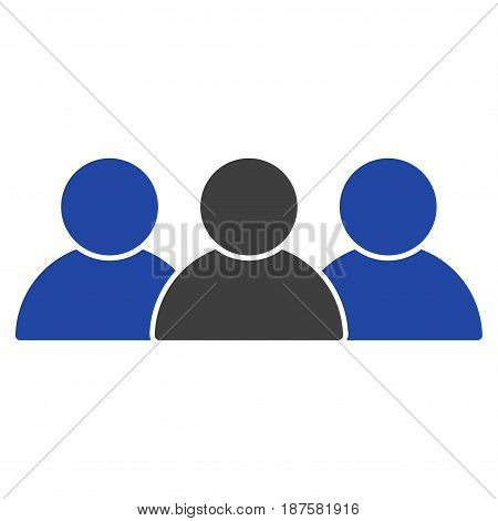 People flat vector icon. An isolated illustration on a white background.