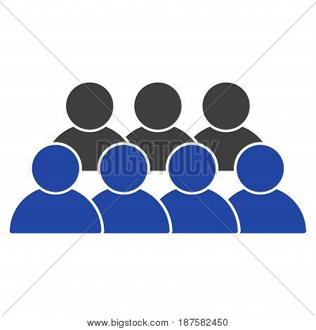 Staff flat vector illustration. An isolated illustration on a white background.