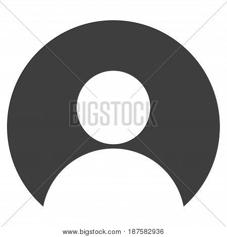 User Account flat vector pictogram. An isolated illustration on a white background.