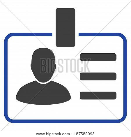 User Badge flat vector illustration. An isolated illustration on a white background.
