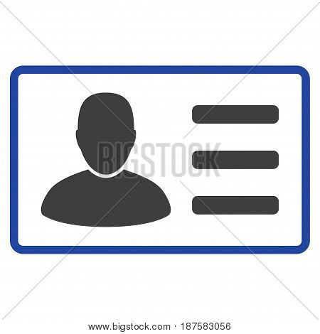 User Card flat vector icon. An isolated illustration on a white background.