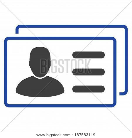 User Cards flat vector icon. An isolated illustration on a white background.