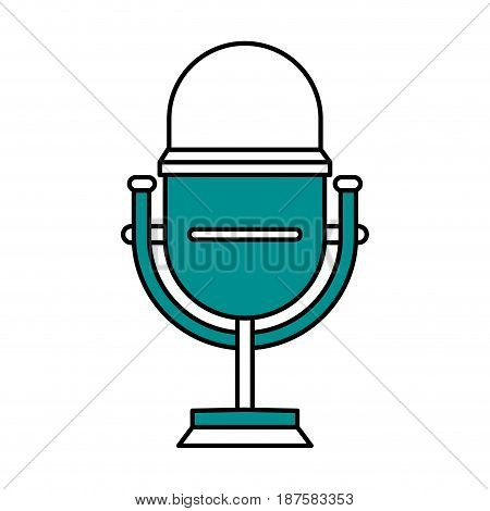color silhouette image of studio microphone vector illustration