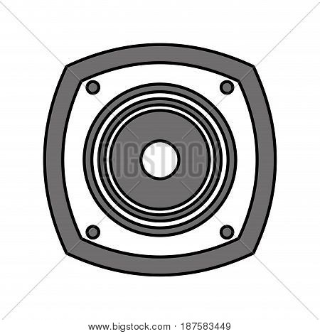 color silhouette image with loudspeaker vector illustration
