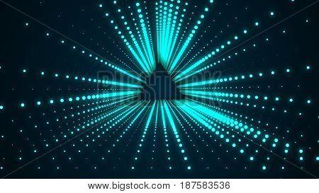 Futuristic Conceptual Tunnel. High Resolution