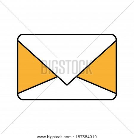 color silhouette image of sealed envelope mail vector illustration
