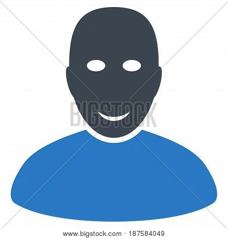User flat vector illustration. An isolated illustration on a white background.