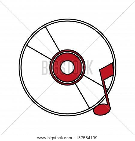 color silhouette image of music compact disc vector illustration