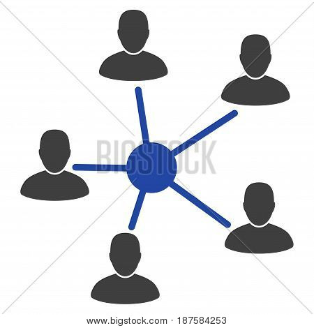 Users Relations flat vector illustration. An isolated illustration on a white background.