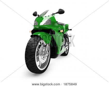Isolated Motorcycle Front View 04
