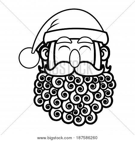 santa claus cartoon character merry christmas vector illustration