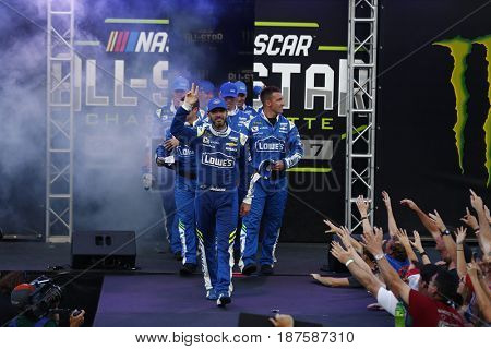 May 20, 2017 - Concord, NC, USA: Jimmie Johnson (48) gets introduced to the crowd for the Monster Energy NASCAR All-Star Race at Charlotte Motor Speedway in Concord, NC.