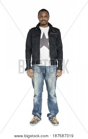 African Descent Man Smiling Happy