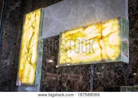 Stone wall light design