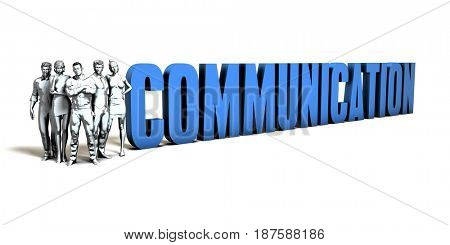Communication Business Concept as a Presentation Background 3D Illustration Render