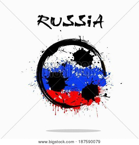 Flag Of Russia As An Abstract Soccer Ball
