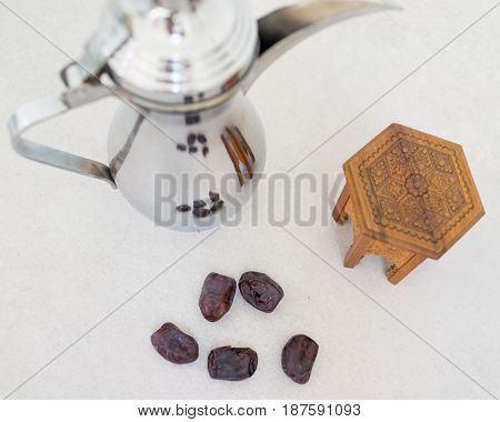 Arabian coffee and dates ready for Ramadan