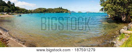 Sea lagoon in New Zealand