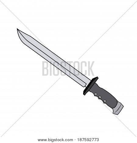 sword weapon vintage war decoration image vector illustration