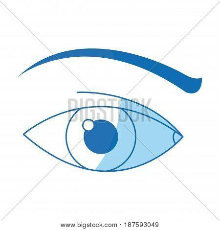 human eye vision optical design image vector illustration