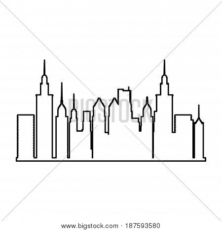 city panoramic skyline view. urban architectural buildings. vector illustration