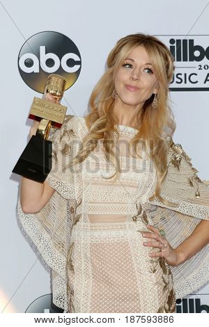 LAS VEGAS - MAY 21:  Lindsey Stirling at the 2017 Billboard Awards Press Room at the T-Mobile Arena on May 21, 2017 in Las Vegas, NV
